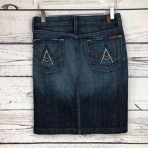 7 For All Mankind A Pocket Mini Jeans Skirt NWOT